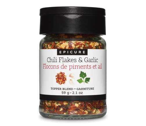 Chili Flakes & Garlic Topper