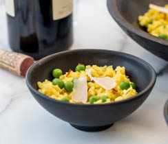 Risotto with Saffron and Peas