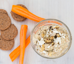 Roasted Red Pepper Feta & Walnut Spread