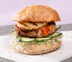 Teriyaki Turkey Burger Patties