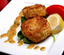 Sweet and Spicy Crab Cakes