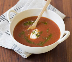 Easy Roasted Red Pepper & Tomato Soup