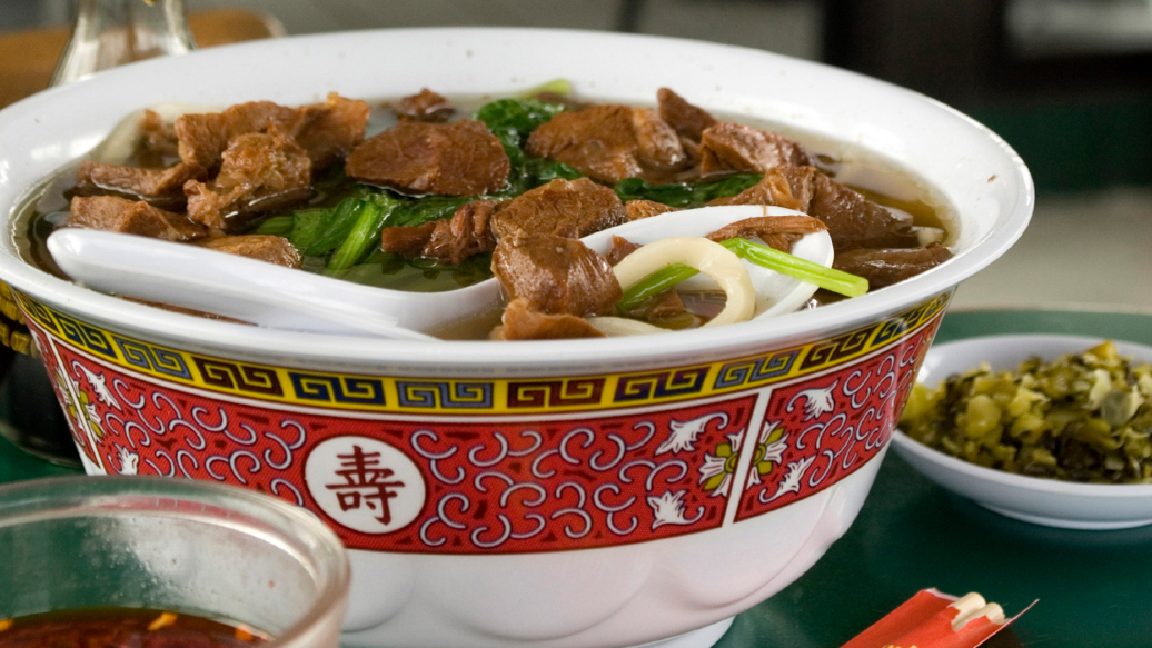 Asian Beef and Rice Soup