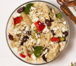 Greek Pasta Salad with Feta and Olives
