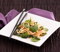 Stir-fried Noodles with Spinach