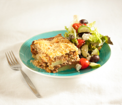 Greek Potato Moussaka - Beef or Lentil