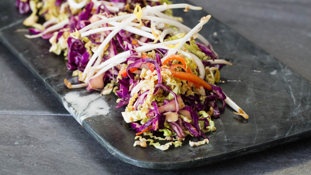 Asian Hot and Sour Coleslaw