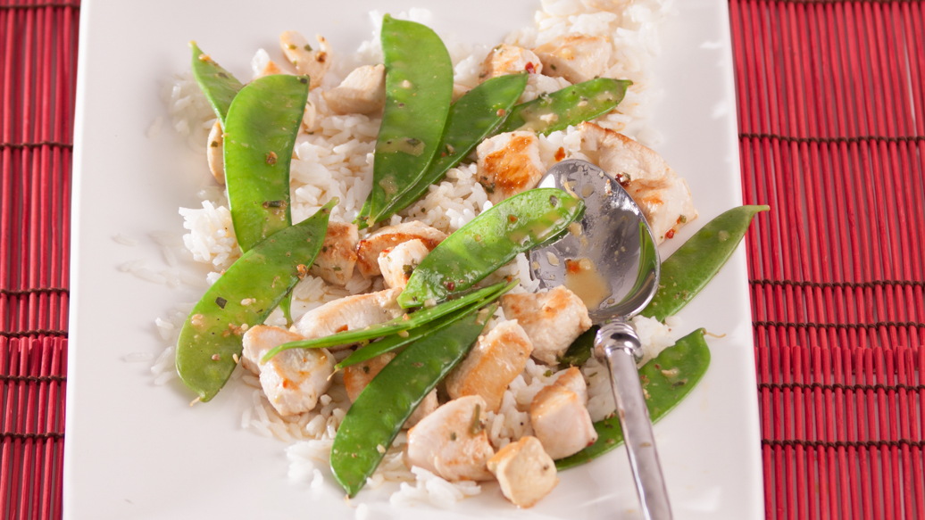 Chicken and Snow Pea Stir-fry