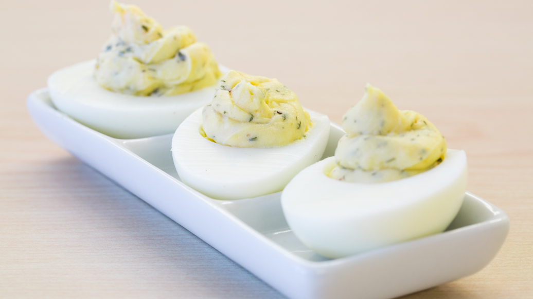 Lemon Dilly Devilled Eggs