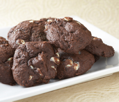 Soft Cocoa Cookies with White Belgian Chocolate