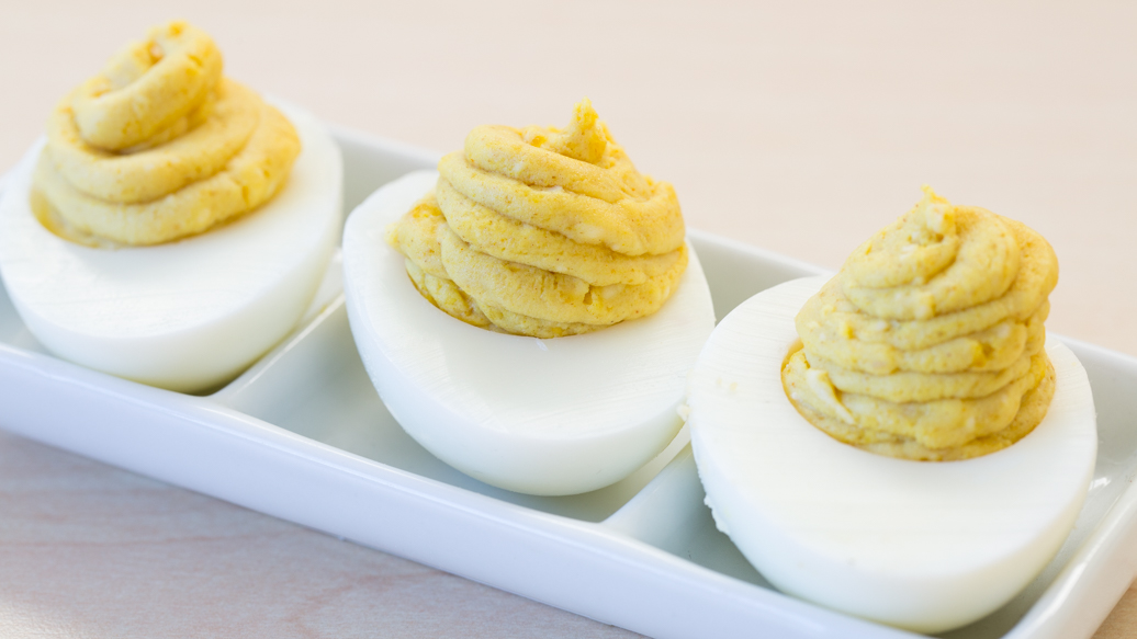 Curried Devilled Eggs