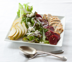 Beet, Pear and Goat Cheese Salad with Grilled Chicken