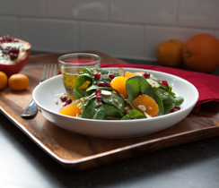 Spinach, Clementine and Pomegranate Salad