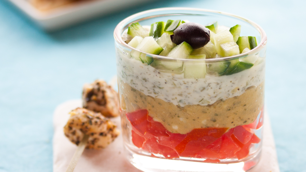 Greek Layer Dips for Verrines