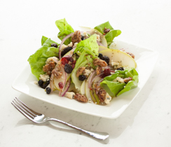 Pear, Blue Cheese and Buttered Rum Pecan Salad