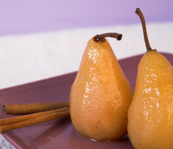 Pears Poached with Mulling Spices
