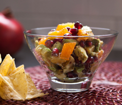 Avocado, Orange and Pomegranate Salsa