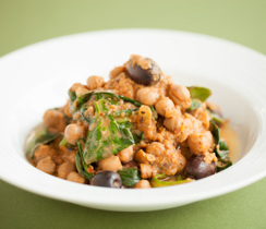 Slow-cooker Lentil, Chickpea and Spinach Stew