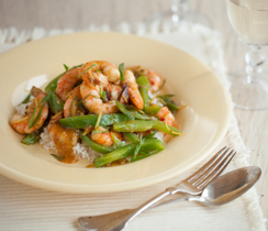Ginger Shrimp Stir-fry
