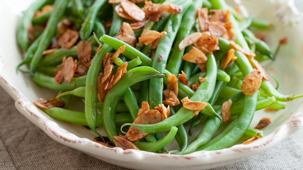 Green Beans with Spiced Almonds