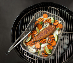 Grilled Adobo Pork Tenderloin with Barbecued Sweet Potatoes
