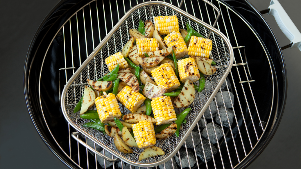 Grilled Corn and Potato Wedges