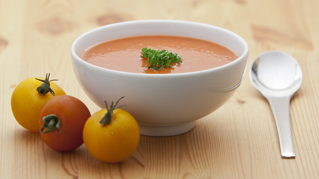 Yellow Tomato and Smoked Paprika Gazpacho