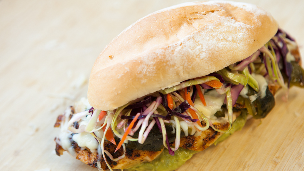 Mexican Chicken and Cheese Tortas