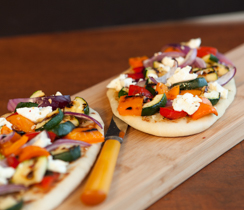 Grilled Summer Vegetable Naan Pizza