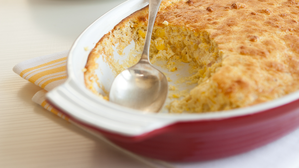 Cheese, Chives & Bacon Corn Spoon Bread