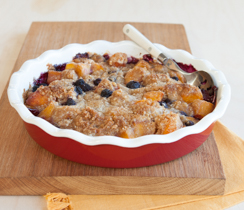 Peach Blueberry Crumble Pie