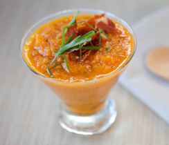Sylvie's Cold Carrot, Rosemary and Lemon Soup