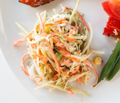 Crispy Coleslaw with Honey Mustard Dressing