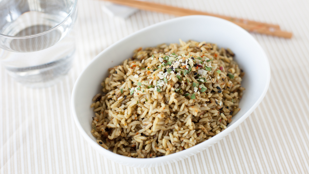 3 Onion Sesame Crunch Rice