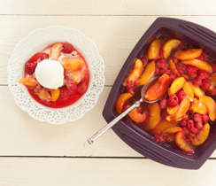 Peach & Raspberry Compote