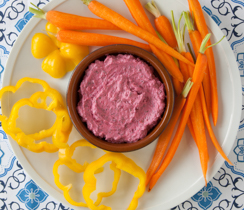 Moroccan Mint & Beet Dip with Crudités