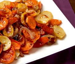 Roasted Harvest Vegetables with Maple Bacon Sea Salt