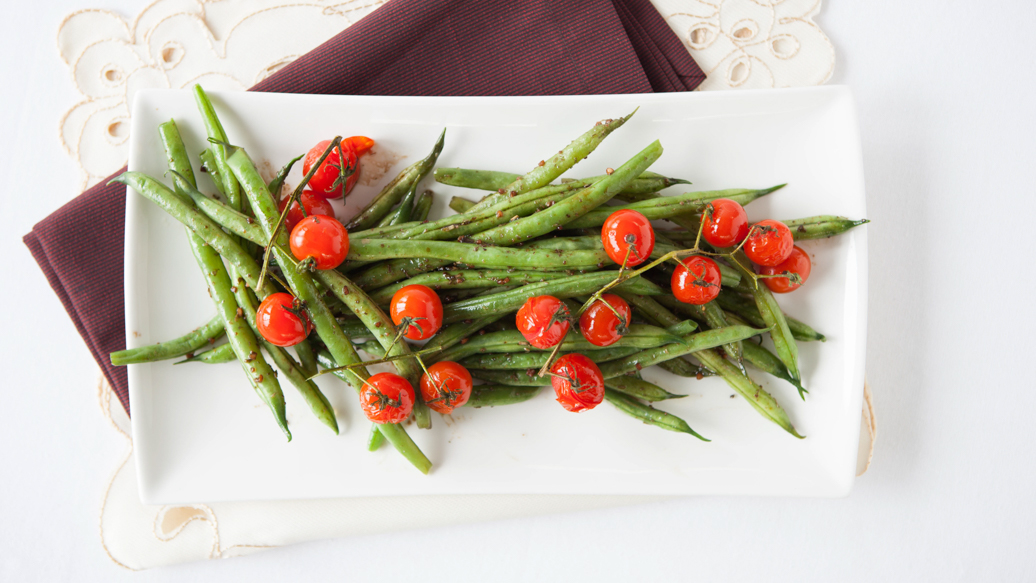 Balsamic Green Beans & Tomatoes