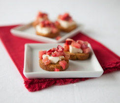 Herb & Garlic Apple Crostini