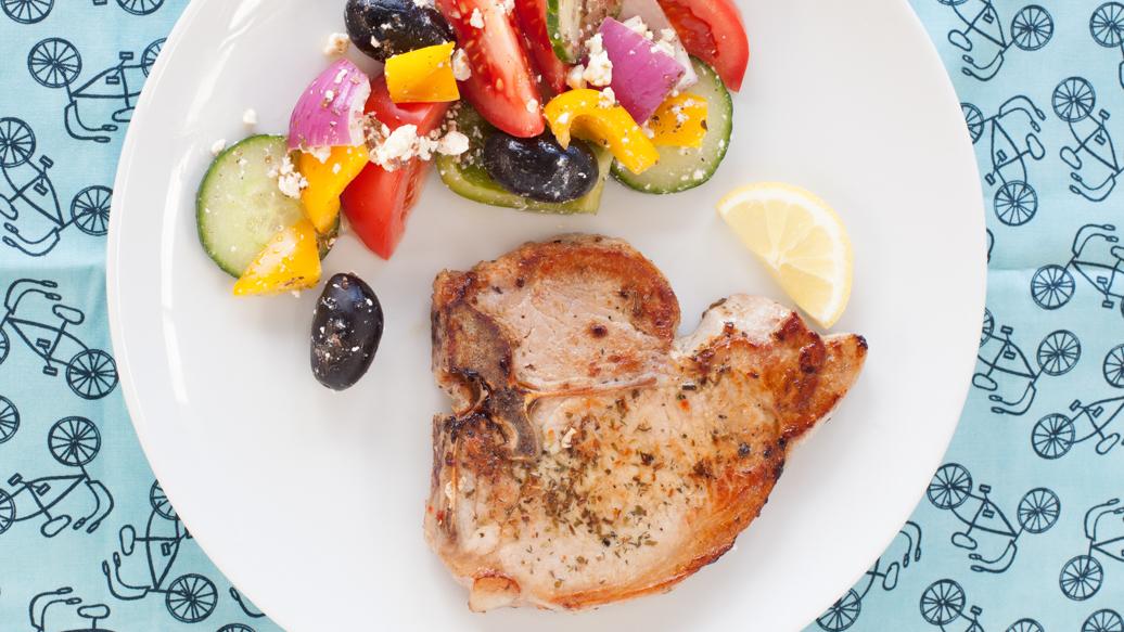 Greek pork chops recipe baked