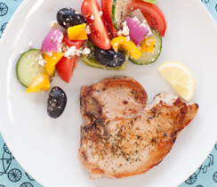Greek Roasted Pork Chops
