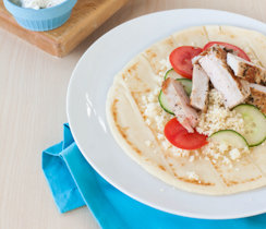 Greek Pork & Couscous Wraps