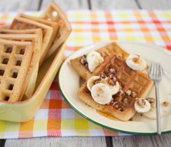 Banana Whole-Wheat Walnut Waffles