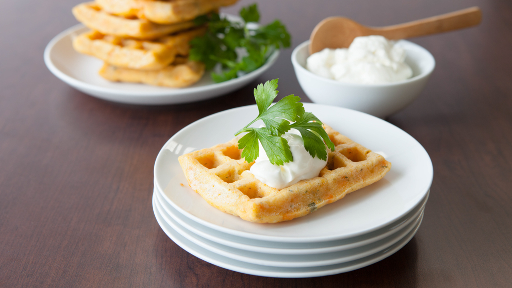 3 Onion Potato Waffles