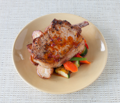 Red Pepper Jelly & Tea-glazed Pork Chop