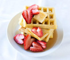 Classic Waffles for Valentine's Day