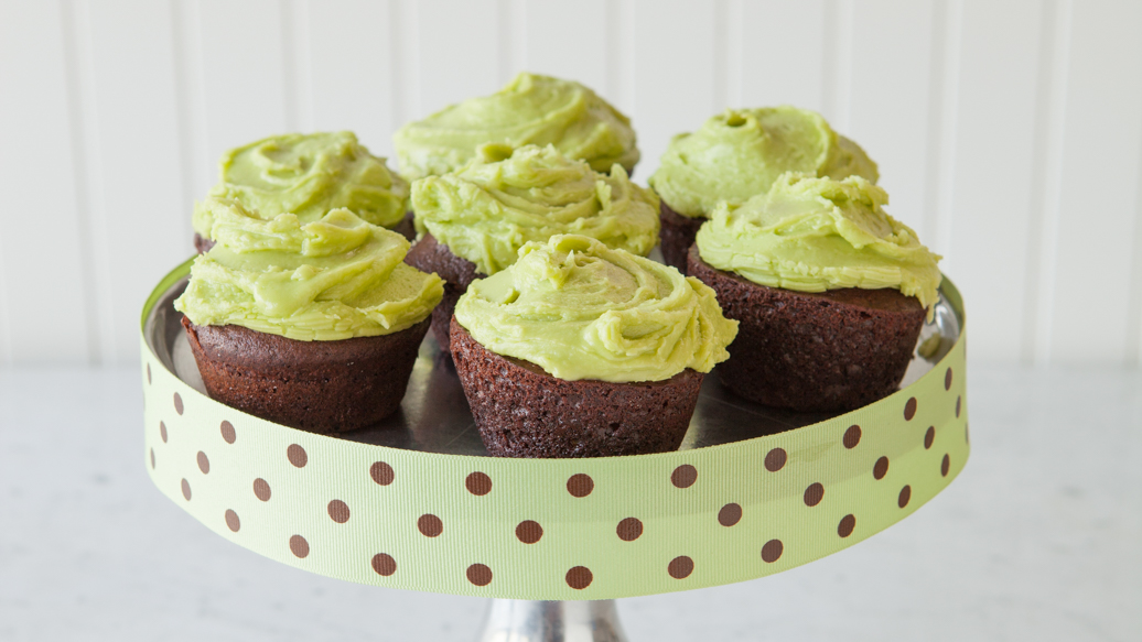 Chocolate Cupcakes for St.Patrick's Day