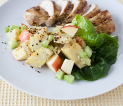 Potato Apple salad with Mango Curry dressing