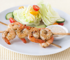Bali Glazed Skewered Prawns