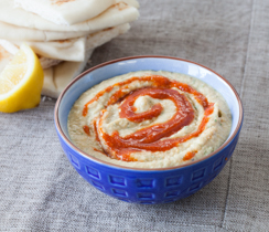 Delicious Sriracha Spicy Hummus